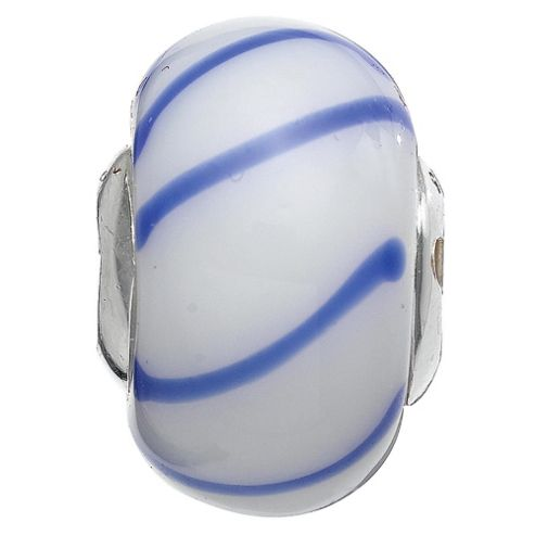 Truth Blue Stripe Glass Charm