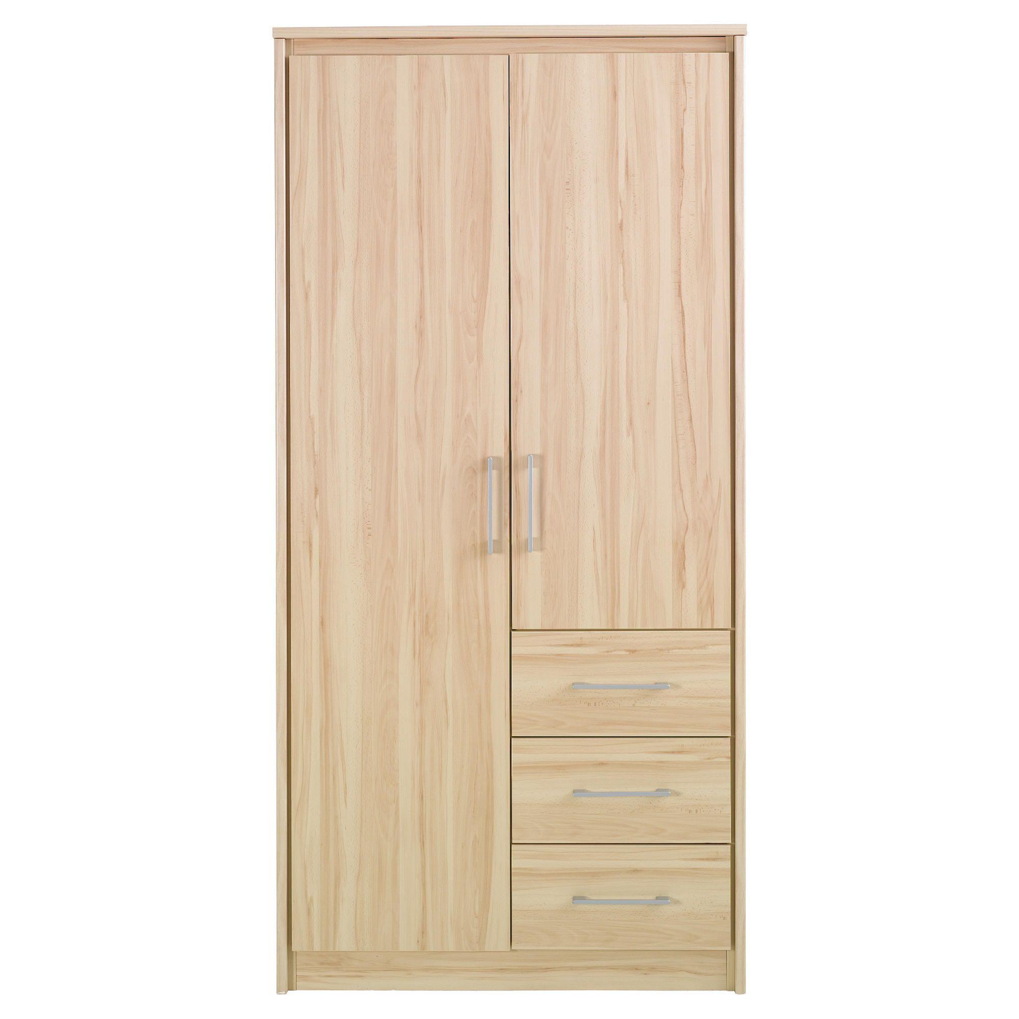 Parisot Kurt Two Door Wardrobe in Canyon Beech at Tesco Direct