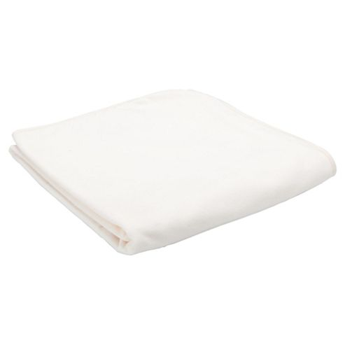 Tesco Loves Baby Fleece Blanket, Cream