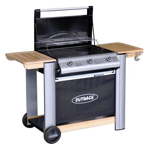 Outback Spectrum 3 Burner Flatbed Gas BBQ with Cover