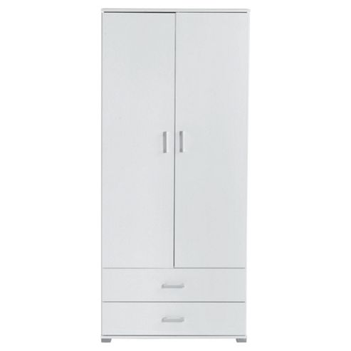 Fresno Double Wardrobe, White