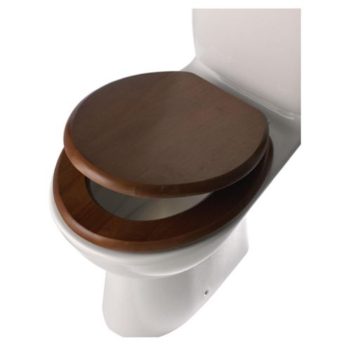 Tesco Wooden Toilet Seat - Walnut Effect