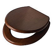 Slow Close Toilet Seat, Walnut Effect