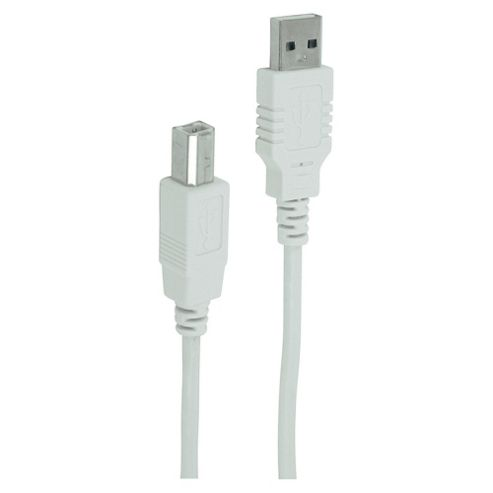 Tesco 2.0m USB Type A to Type B Data Cable