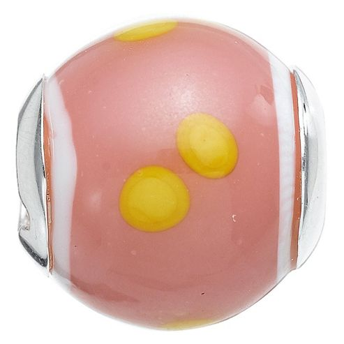 Truth Pink/Yellow Glass Charm