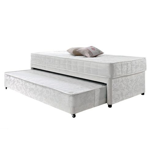 White single bed with guest bed images for Low single divan bed