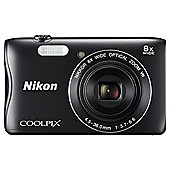 Nikon Coolpix S3700 Digital Camera, BLACK