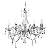 Tesco Lighting Marie Therese Five Light Ceiling Fitting Chrome