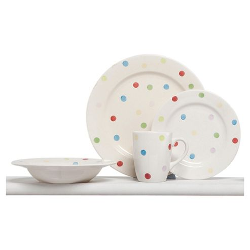 Tesco Circus 16 Piece, 4 Person Dinner Set
