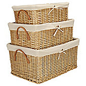 Tesco Basic Wicker Baskets, Set of 3, Honey