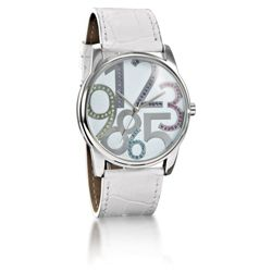 Ladies Large Number Glitter Dial Watch