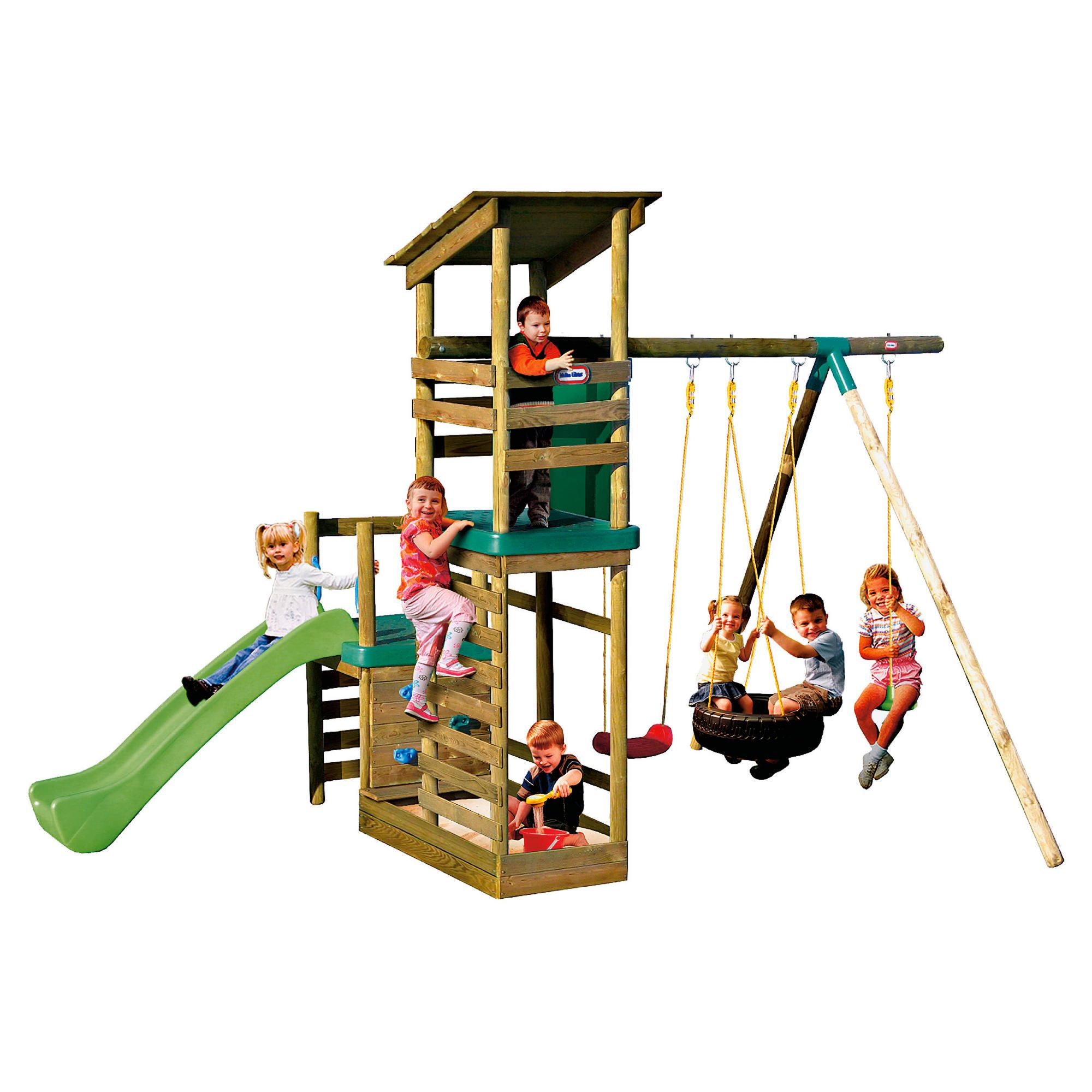 Little Tikes Buckingham Climb Slide 'n? Sand Play Swing Set at Tesco Direct