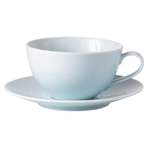 Gordon Ramsay Set of 4 Teacups and Saucers, Turquoise