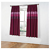 "Tesco Nanza Curtains W117xL183cm (46x72""), Plum"