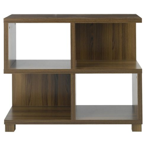 Camden Low Bookcase, Walnut-effect