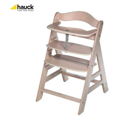 Hauck Alpha Wooden Highchair - Whitewashed