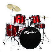 Rockburn Full Size 5 Piece Drum Kit - Red