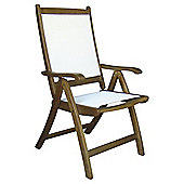 Windsor Wood & Fabric Reclining Dining Chair