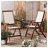 Windsor Wood & Fabric Reclining Garden Dining Chair