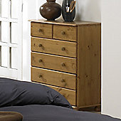 Home Essence Balham Six Drawer Chest in Pine