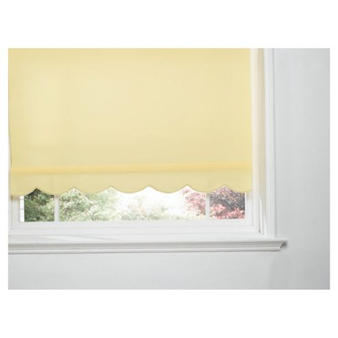 Scalloped Edge Roller Blind, Buttercup Yellow 90Cm