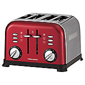Morphy Richards 77-749 Accents 4 Slice Translucent Toaster - Red