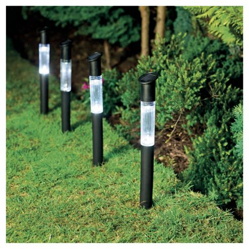Tesco Black Plastic Solar Stick Marker 4pk