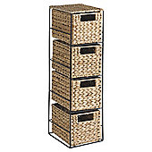 Tesco Water Hyacinth Set Of 4 Drawers