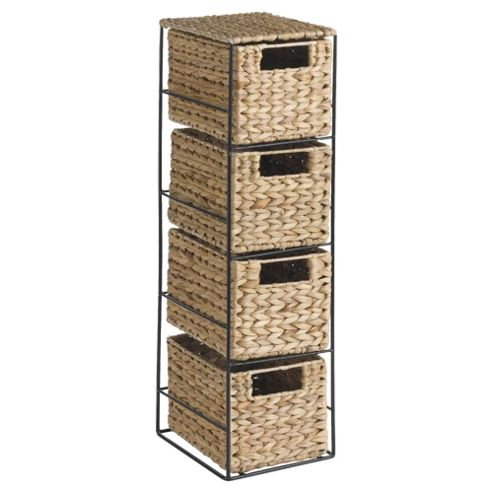 Tesco Water Hyacinth 4 Drawer Storage Unit