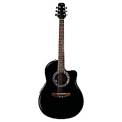 Martin Smith Roundback Style Guitar With Pre-Amplifier And Equalizer - Black