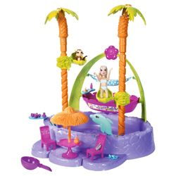 Polly Pocket Island Adventure Splash Playset Doll