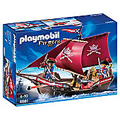 Playmobil 6681 Pirates Soldiers' Patrol Boat with 2 Soldiers