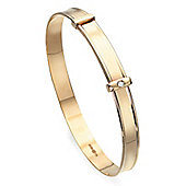 D for Diamond Gold Baby Bangle