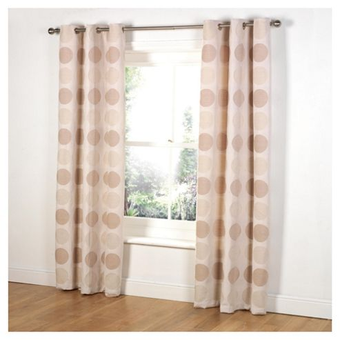 Tesco Chenille Circles Lined eyelet Curtains W163xL137cm (64x54