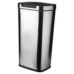 Rectangular stainless steel bin touch open bin