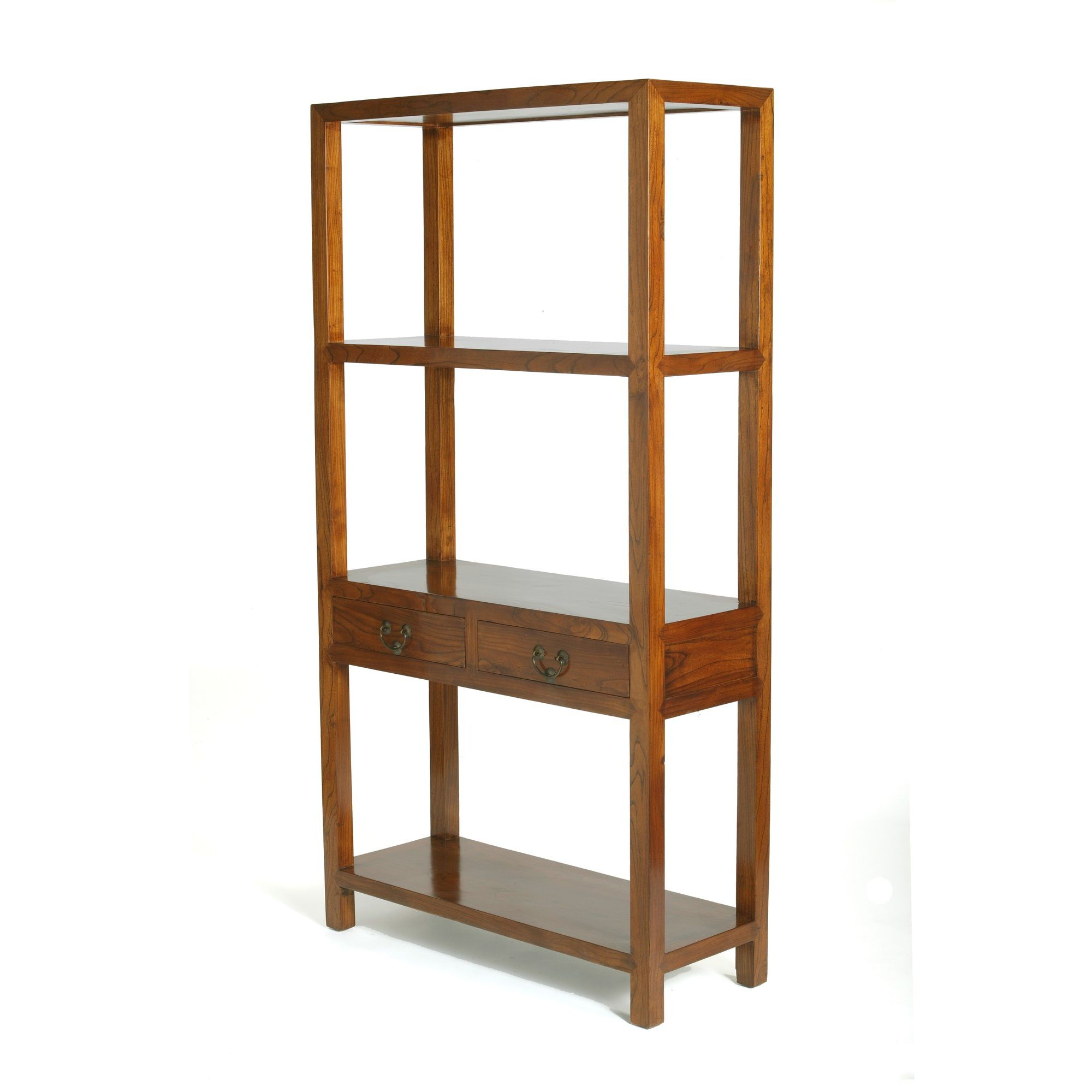 Shimu Chinese Classical Ming Bookshelf - Warm Elm at Tesco Direct