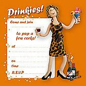 Holy Mackerel Drinkies Party Invitations, Pack of 8