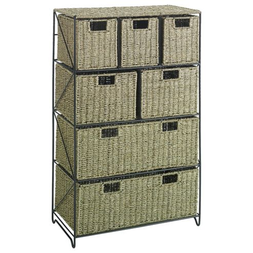 Tesco Seagrass 7 Drawer Tower