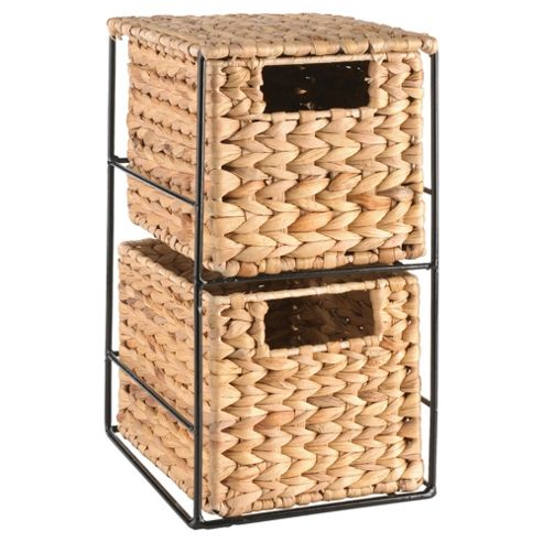 Tesco Water Hyacinth 2 Drawers Unit