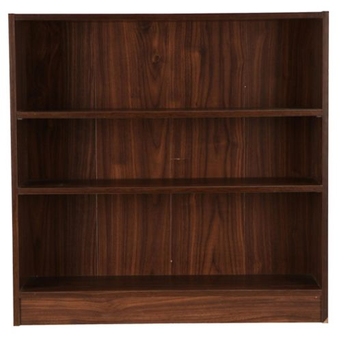 Fraser 3 Shelf Wide Bookcase, Walnut-Effect