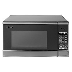 Sharp R270SLM Solo Microwave, 20L - Silver