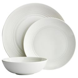 Gordon Ramsay Maze by Royal Doulton 12 Piece, 4 Person Dinner Set - White
