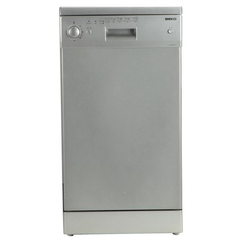 Beko DE2542F Slimline Dishwasher, A Energy Rating. Silver