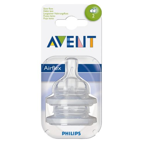Philips Avent Feeding Teats x 2 Slow