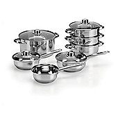 Tesco 5 piece Stainless Steel Saucepan Set with Lids