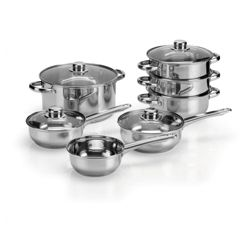 Tesco 5 piece Stainless Steel Sauce Pan Set