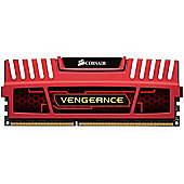 Corsair Microsystems Vengeance Low Profile 8GB Memory Kit PC3 15000 1866MHz DDR3 DIMM Red