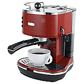 DeLonghi  15 Bar Pump Espresso Coffee Machine - Red