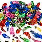 Kids Crafts Speckled Craft Feathers