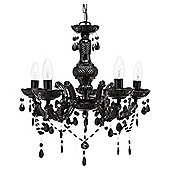 Tesco Lighting Marie Therese Five Light Ceiling Fitting Black